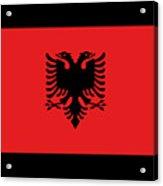 Albania Flag Acrylic Print