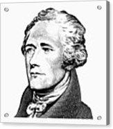 Alexander Hamilton - Founding Father Graphic  Acrylic Print