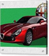 Alfa Romeo Zagato  T Z 3  Stradale With 3 D Badge  Acrylic Print