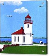 Alki Point Lighthouse Acrylic Print