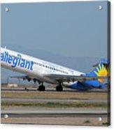 Allegiant Air Mcdonnell-douglas Md-83 N429nvmesa Gateway Airport Arizona March 11 2011 Acrylic Print