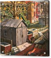 Alley With Ashpits Acrylic Print