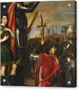 Allocution Of Marquis Del Vasto To His Troops Acrylic Print