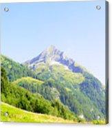 Alpine Mountain Peak Landscape. Acrylic Print