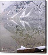 Alpine Winter Reflections Acrylic Print
