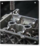 Aluminium Auto Part Inspection By Cmm Dimension Check Machine Acrylic Print
