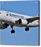American Airlines Plane Preparing To Land At The Bwi Airport Acrylic Print