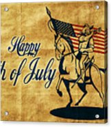 American Cavalry Soldier Acrylic Print by Aloysius Patrimonio