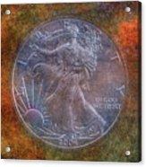 American Silver Eagle Dollar Acrylic Print