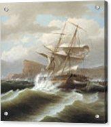 An American Ship In Distress Acrylic Print