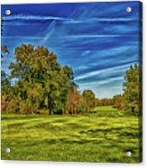 An Autumn Golf Day Acrylic Print