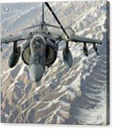 An Av-8b Harrier Receives Fuel Acrylic Print