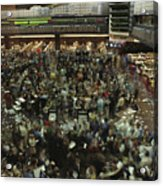 An Elevated View Of Traders Acrylic Print by Michael S. Lewis