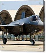 An F-35 Lightning II Taxiing At Eglin Acrylic Print