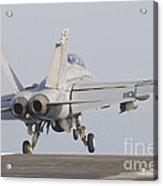 An Fa-18f Super Hornet Taking Acrylic Print