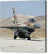 An Israeli Air Force F-16a Netz Taxiing Acrylic Print
