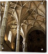 Lisbon Cathedral's Ancient Arches  Acrylic Print