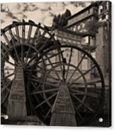 Ancient Chinese Waterwheels Acrylic Print