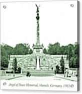 Angel Of Peace Memorial, Munich, Germany, 1903 Acrylic Print
