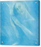 Angel With Dove Acrylic Print