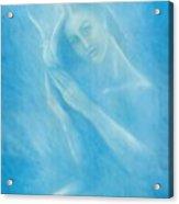 Angel With Dove Acrylic Print
