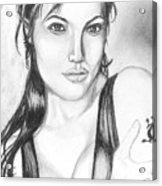 Angelina Jolie Portrait Acrylic Print