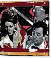 Angie Dickinson Robert Mitchum Pose Collage Young Billy Young Old Tucson Arizona 1968-2013 Acrylic Print