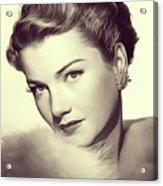 Anne Baxter, Vintage Actress Acrylic Print