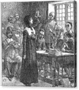Anne Hutchinson (1591-1643) Acrylic Print