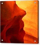 Antelope Canyon - Stone Face Acrylic Print