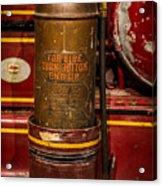 Antique Fire Extinguisher Acrylic Print
