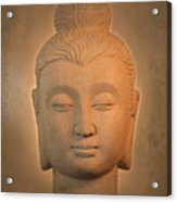 antique oil effect Buddha Gandhara. Acrylic Print