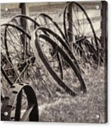 Antique Wagon Wheels I Acrylic Print