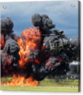 Boeing Apache Longbow  Helicopter Exercise Acrylic Print