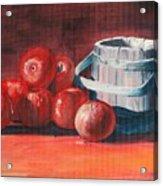 Apples - N - Wodden Basket Acrylic Print