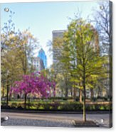 April In Rittenhouse Square Acrylic Print