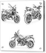 Aprilia Smv 900 Dorsoduro Drawing Acrylic Print