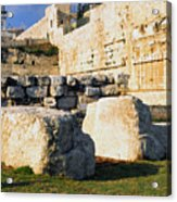 Archaeological Garden Southern Temple Mount Acrylic Print