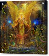 Archangel Michael-angel Tarot Card Acrylic Print by Steve Roberts