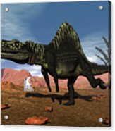 Arizonasaurus Dinosaur - 3d Render Acrylic Print