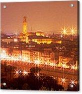 Arno River Florence Italy Acrylic Print