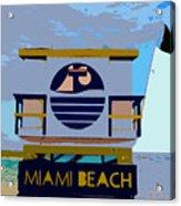 Art Deco Lifeguard Stand Acrylic Print