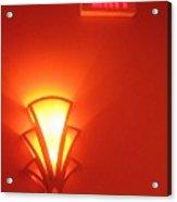 Art Deco Light Exit Sign Fox Tucson Theater Tucson Arizona 2006 Acrylic Print