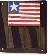 Art Homage Jasper Johns Flag Window Silver Dollar Bar Eloy Arizona 2004 Acrylic Print