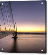 Arthur Ravenel Jr Bridge Sunrise Acrylic Print
