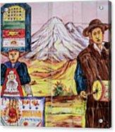 Artisan Market In Quito Acrylic Print