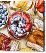 Assorted Tarts And Pastries Acrylic Print