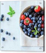 Assortment Of Berries Acrylic Print