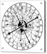 Astronomical Clock Acrylic Print