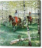 At Work Nikolai Petrovich Bogdanov-belsky Acrylic Print